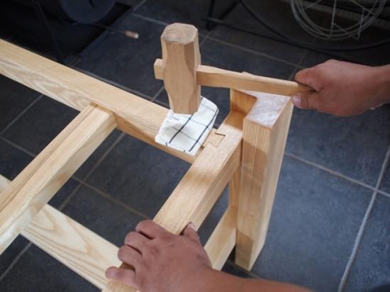楠一枚板ダイニングテーブル10