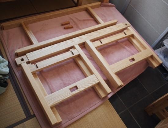 楠一枚板ダイニングテーブル4