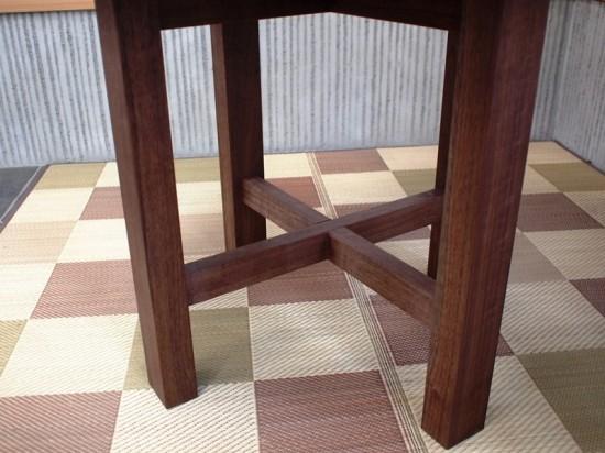 総ブラックウォルナット造り輪切りテーブル、完成20140730-7