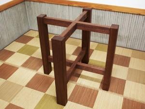 総ブラックウォルナット造り輪切りテーブル、完成20140730-8