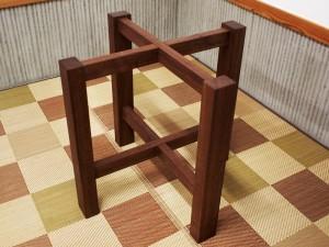 総ブラックウォルナット造り輪切りテーブル、完成20140730-9