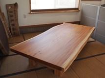 欅一枚板掘りごたつ用テーブル