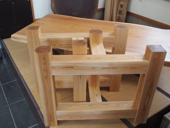 欅一枚板掘りごたつ用テーブル、完成20150804-2