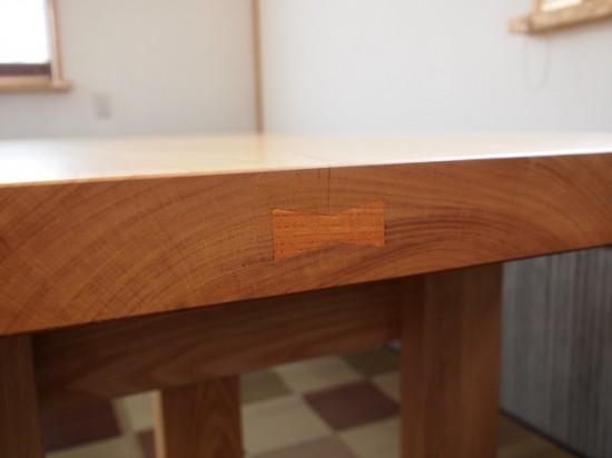 けやき一枚板テーブル天板完成20130807-3