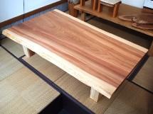 総杉造り一枚板座卓