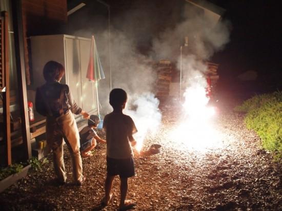 我が家で小さな花火大会20130830