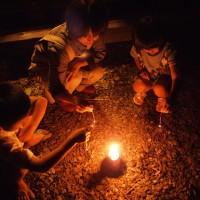 我が家の庭での小さな花火大会20310830