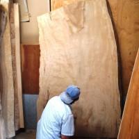 長野市今井様の栃一枚板座卓の製作に入りました20130911