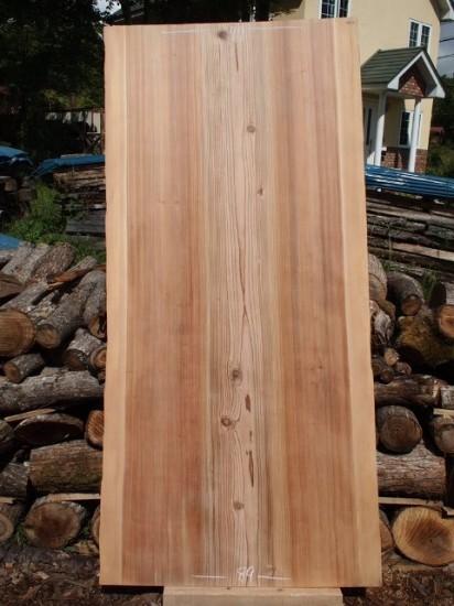 杉一枚板広幅厚盤座卓天板