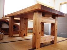総杉造り一枚板厚盤テーブル(2WAYタイプ)