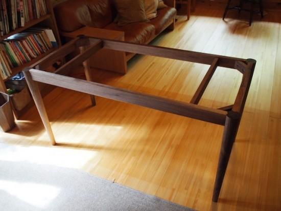 ブラックウォルナットテーブル脚1