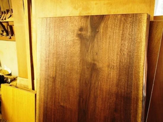 ブラックウォルナット一枚板天板2