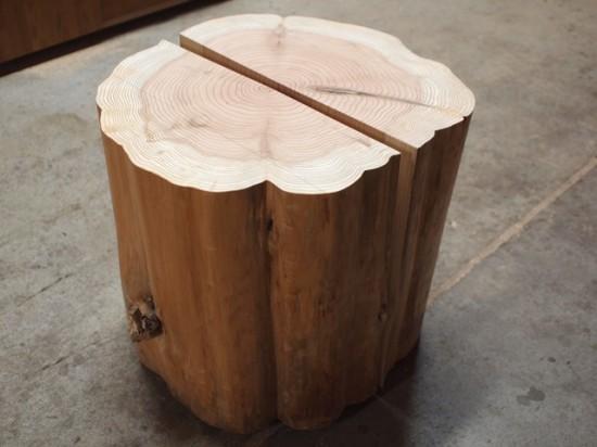 胡桃一枚板のベンチ素材を出荷20141028-3