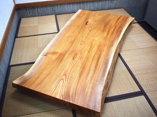 須永様欅一枚板座卓4