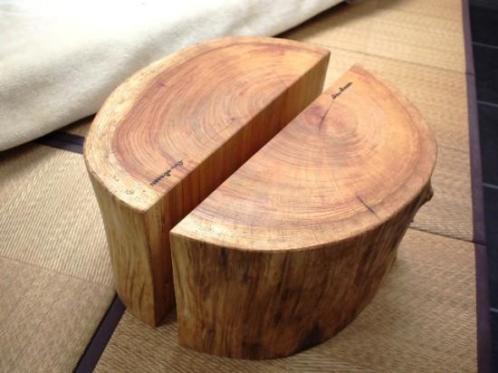 欅丸太半割脚1