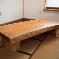 須永様の欅一枚板座卓が完成しました!