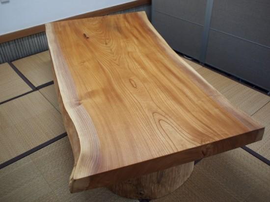 須永様欅一枚板座卓8