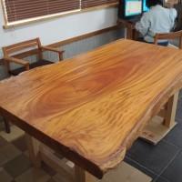 熊本県・井前様の欅巨木一枚板天板、完成!