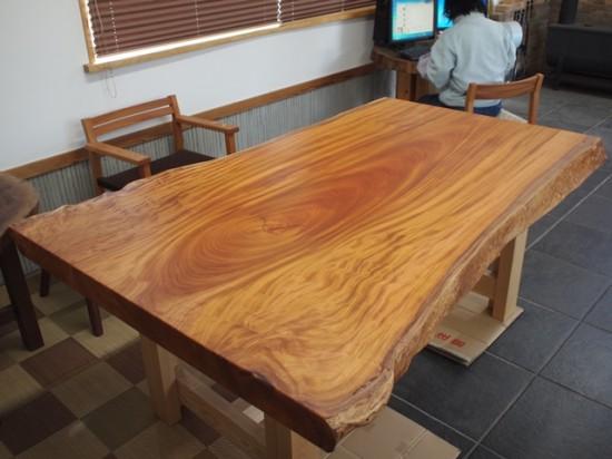 欅巨木一枚板天板、完成20141116-2