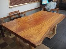 欅巨木一枚板厚盤テーブル(天板加工のみ)