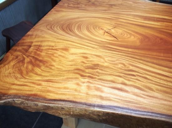 欅巨木一枚板天板、完成20141116-2A