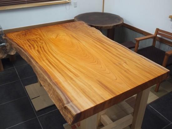 欅巨木一枚板天板、完成20141116-1