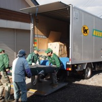 欅巨木一枚板が熊本へ旅立ちました・ブラックウォルナット巨木輪切り天板2枚掲載20141117