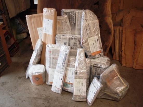 本日の出荷梱包数15個、総重量157kg。無事に出荷出来ました!