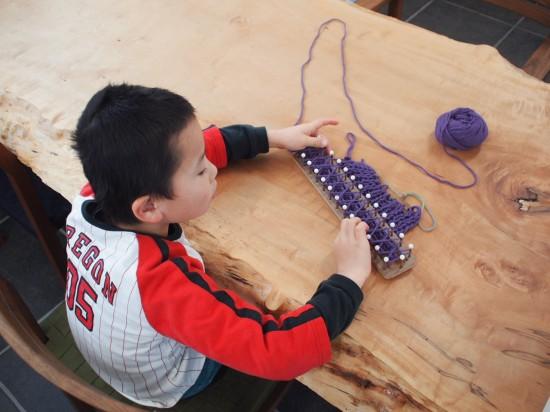 息子がマフラーを編んでくれました(*^^*)2