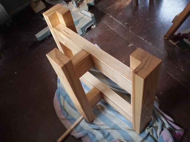 栃極上杢一枚板ダイニングテーブル・座卓兼用脚12