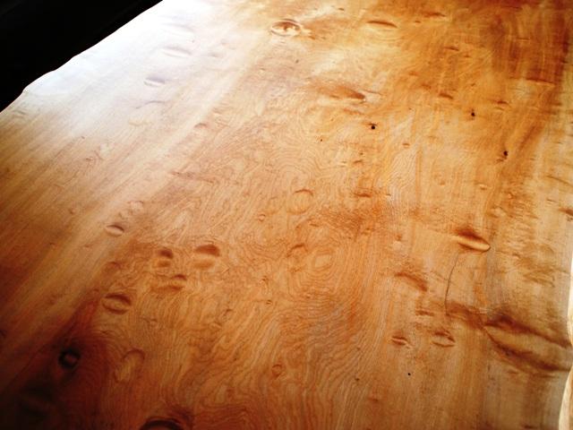 栃極上杢一枚板ダイニングテーブル天板13