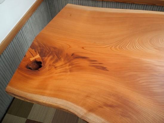欅一枚板テーブル、完成20131231-3
