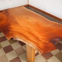 愛媛県本山様の欅一枚板テーブル、完成!20131231