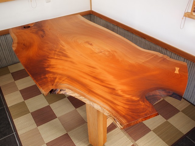 欅一枚板テーブル、完成20131231-1
