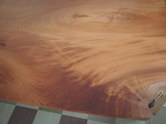 欅一枚板テーブル、完成20131231-4