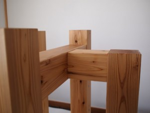 杉無垢材テーブル専用脚-2