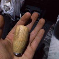 銘木丸棒DIY製作事例「自動車の木製シフトノブ~欅(ケヤキ)丸棒~」20180927