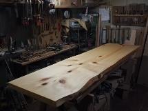 木曽檜一枚板天板