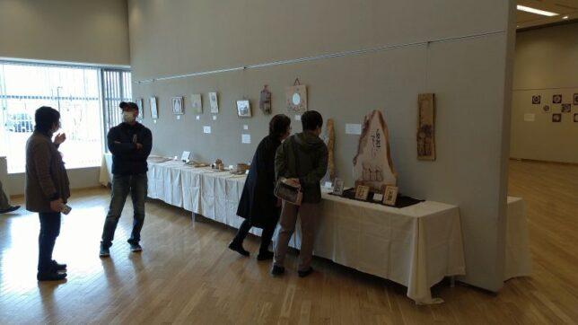 第12回バーニングアート展(上田市サントミューゼ)当日20210403-1