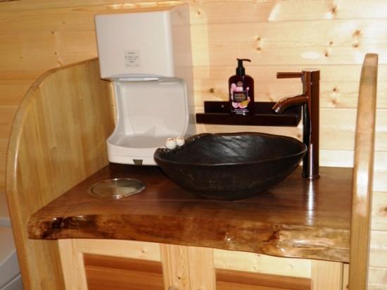 ブラックウォルナット一枚板洗面台2