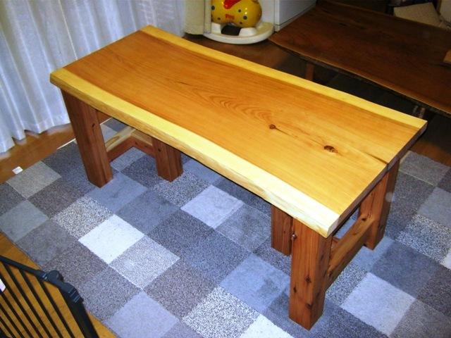 杉一枚板打ち合わせテーブル1