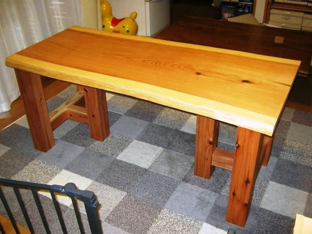 杉一枚板打ち合わせテーブル2