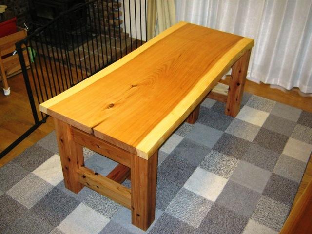 杉一枚板打ち合わせテーブル3
