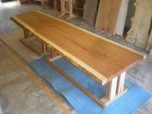 杉耳付一枚板テーブル2セット(掘りごたつ用・飲食店仕様)1