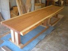 杉耳付一枚板テーブル2セット(掘りごたつ用・飲食店仕様)2