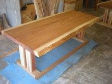杉耳付一枚板テーブル2セット(掘りごたつ用・飲食店仕様)4