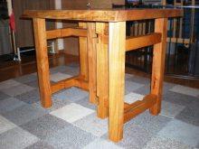欅一枚板の2WAYテーブル(テーブル・座卓)2