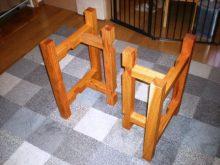 欅一枚板の2WAYテーブル(テーブル・座卓)3