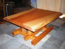 欅一枚板の2WAYテーブル(テーブル・座卓)4