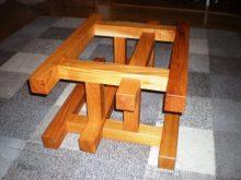 欅一枚板の2WAYテーブル(テーブル・座卓)5